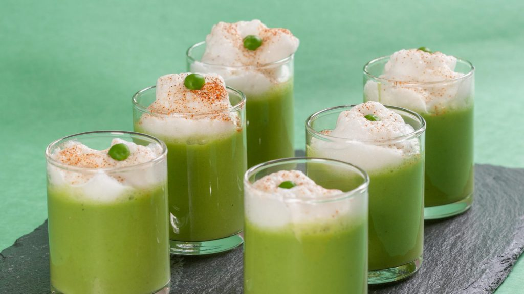 Chilled Pea Soup Latté