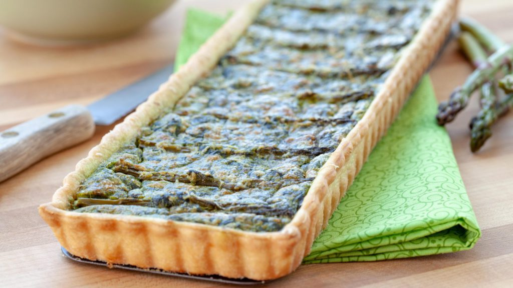 Asparagus Tart with Arugula Pesto