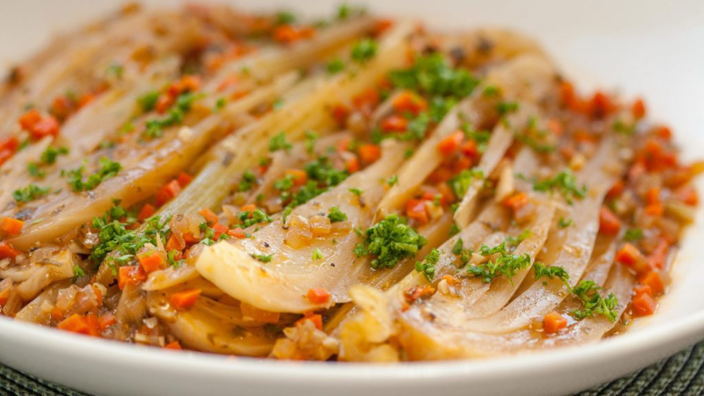Braised Fennel with Anchovies