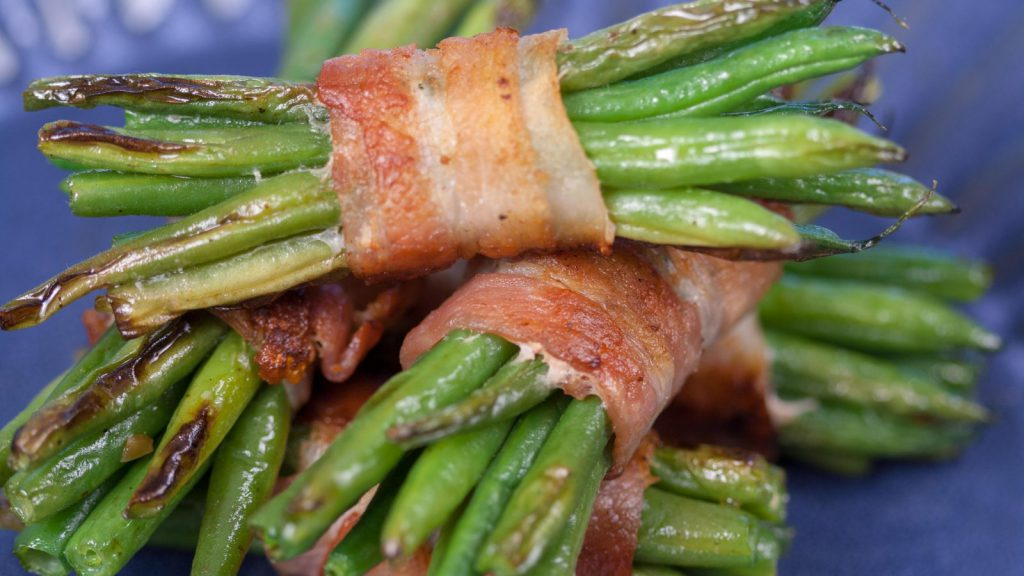 Bundle of Green Beans in Double Smoked Bacon