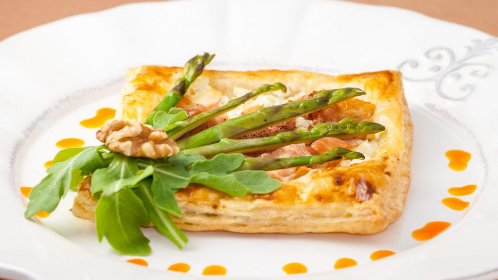 Crispy Asparagus Goat Cheese Tart
