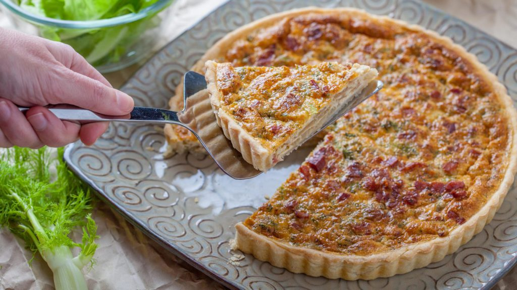 Fennel and Pancetta Quiche