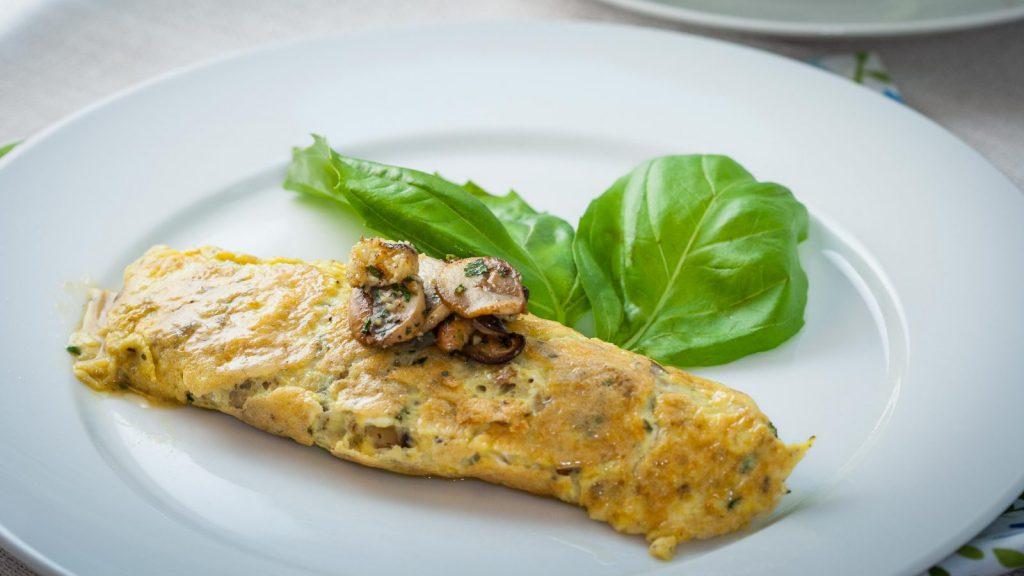 French Mushrooms Omelet