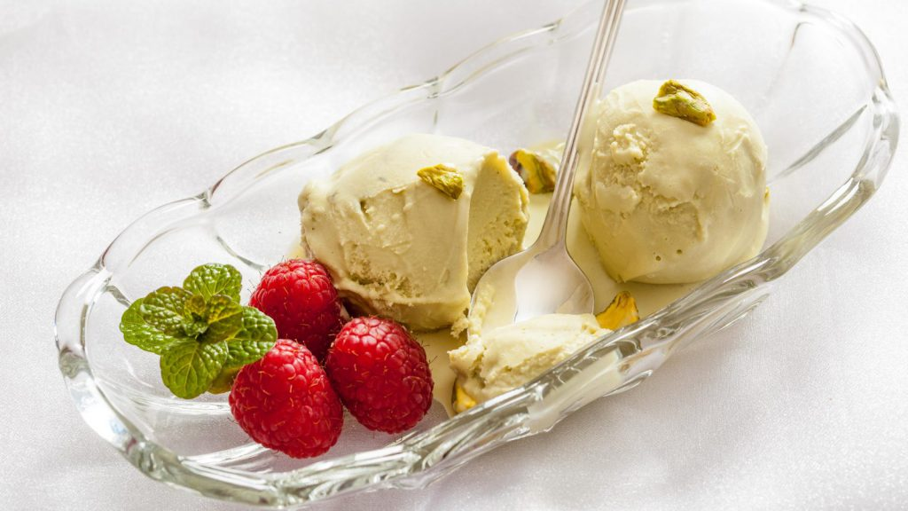 Low Fat and Egg Free Pistachio Gelato