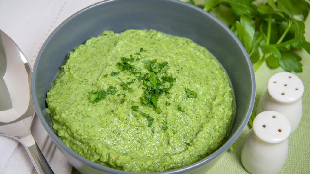 Nutty Broccoli And Scallion Purée