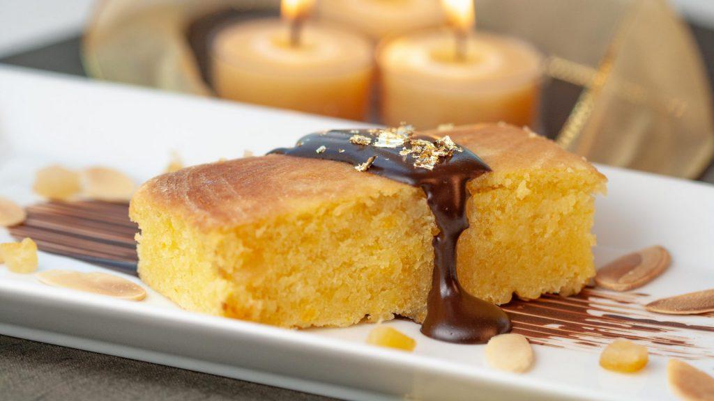 Orange Cake Chocolate Sauce