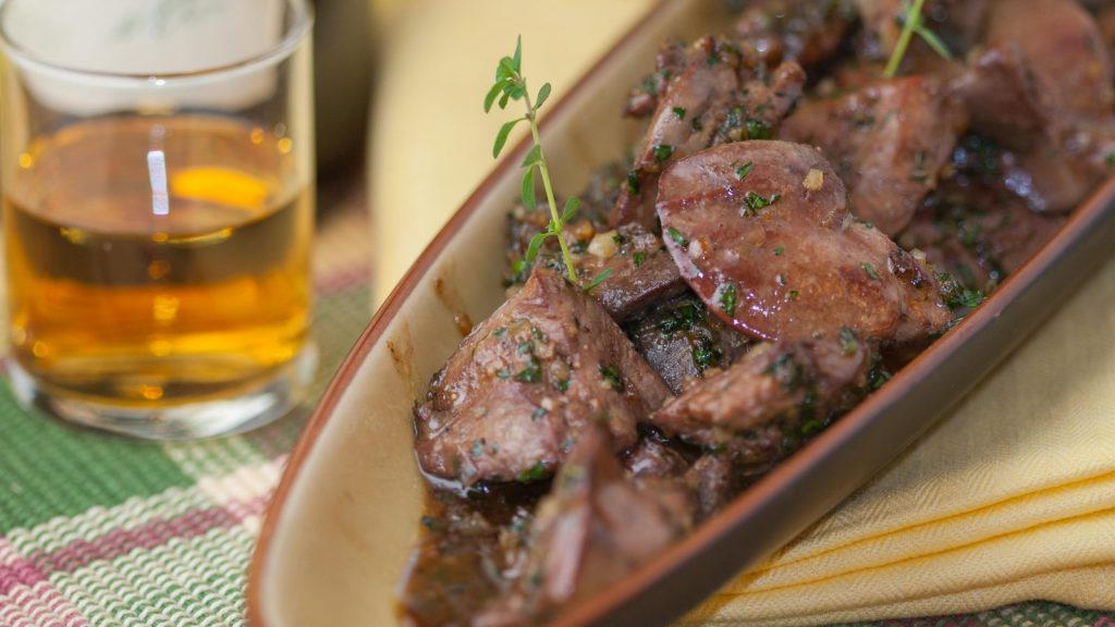 Chicken Livers in Sherry Glaze