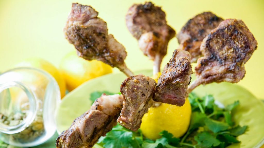 Grilled Lamb Chops with Lemon and Cardamom