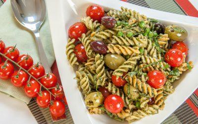 Pesto Fusilli Pasta Salad