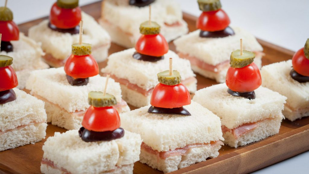 Prosciutto Canapés With Cornichon Skewers