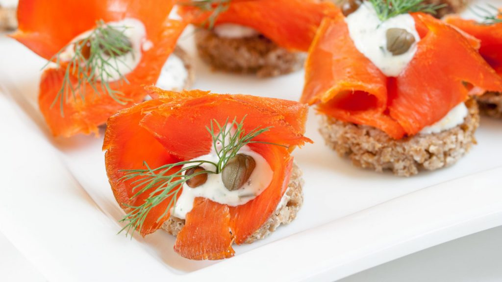 Smoked Salmon Canapés with Dill