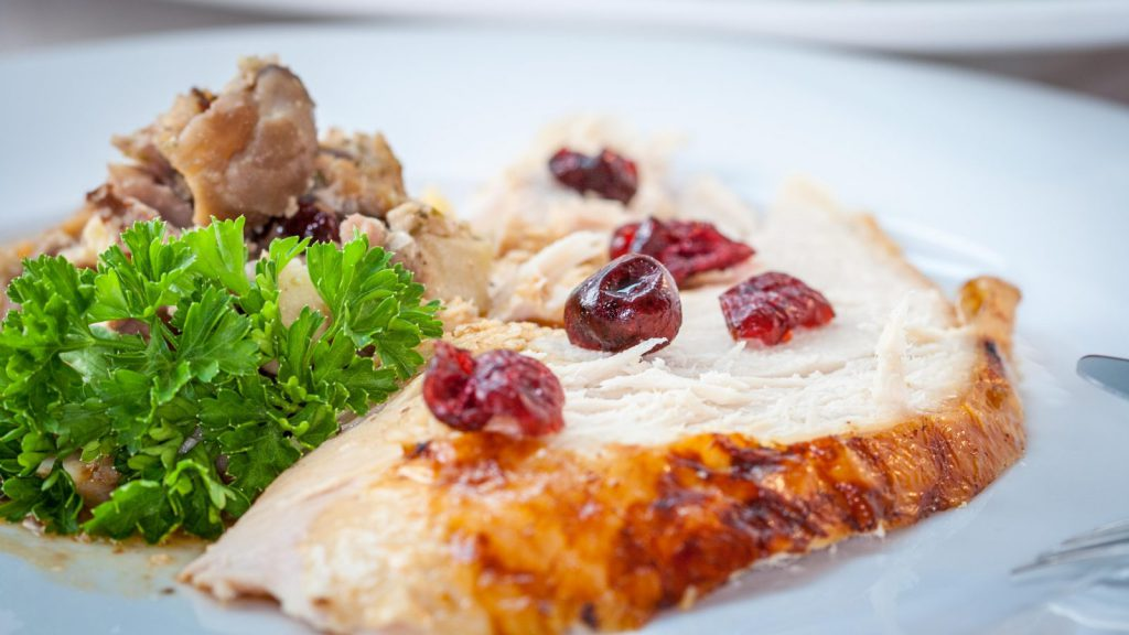 Stuffed Roasted Turkey with Walnuts and Raisins